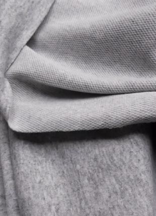 Трикотаж двунитка футер меланж светло-серый