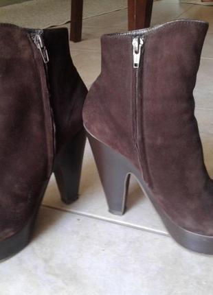 Замшеві чобітки braska. сапоги на высоком каблуке braska