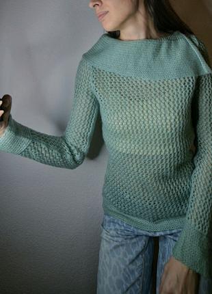 Мятный свитер р. s