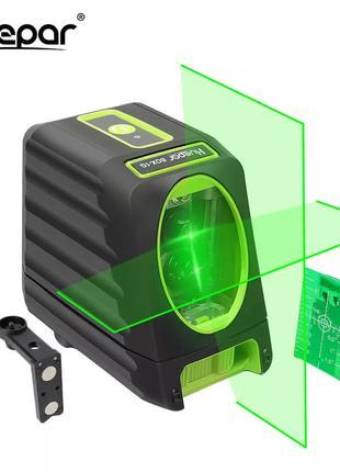 Лазерный уровень Huepar BOX-1G нивелир 2линии кронштейн батарейки