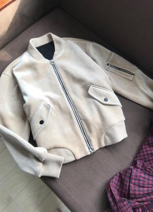 Бомбер тёплый куртка