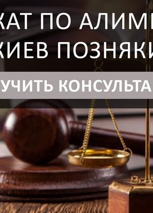 Адвокат по алиментам Киев Позняки, успешное решение вашего дела