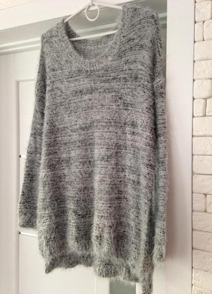Полная распродажа зимы + подарок!!! длинный свитер травка серы...