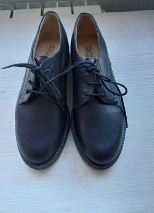 Ботинки туфли лоферы кожаные