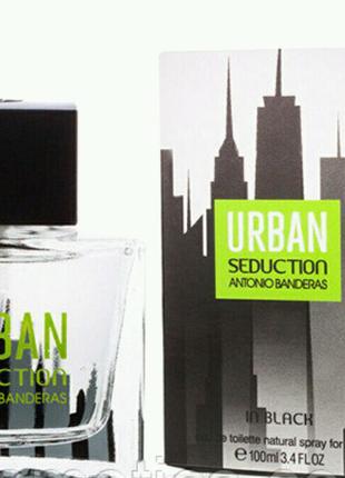 Мужская туалетная вода Antonio Banderas URBAN black men, 100 мл