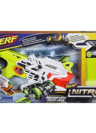 Nerf Nitro AeroFury Ramp Rage. Бластер Нерф стреляющий машинками.