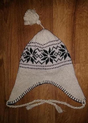 🌺🌺🌺стильная женская вязаная шапка ушанка🔥🔥🔥