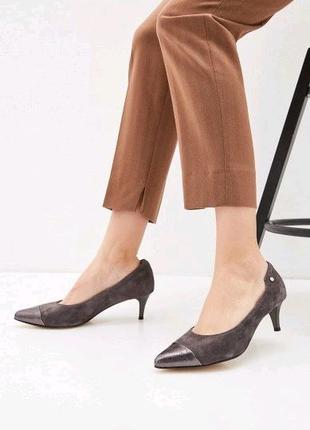 Kaleidoscope туфли замшевые на низком каблуке