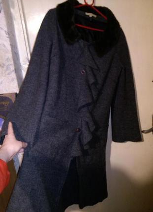 Необыкновенный,асимметричный кардиган-лёгкое пальто,бохо,валян...