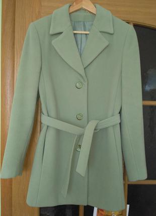 Итальянское демисезонное пальто. шерсть+кашемир. женское пальт...