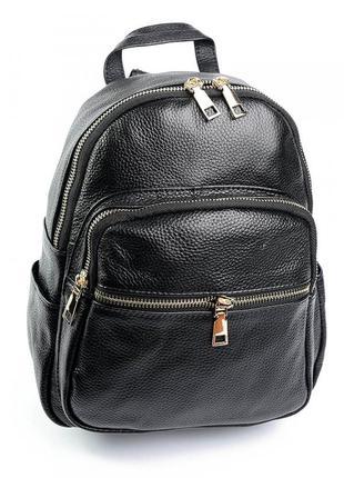 Кожаный женский рюкзак портфель шкіряний