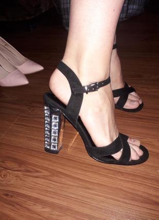 Шикарные тренд замша босоножки сандалии туфли высокий толстый ...