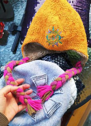 Теплая шапка 3-5 лет