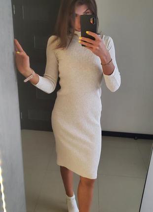 Базовое платье - гольф в рубчик