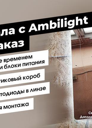 Зеркало с фоновой подсветкой Ambilight