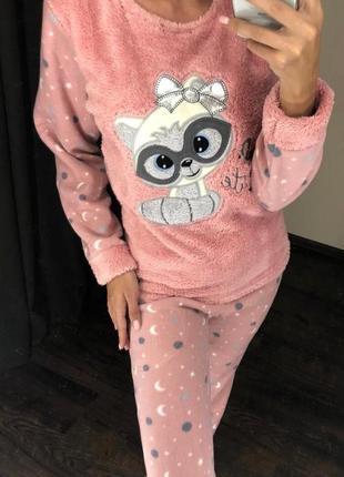Пижама домашний костюм теплый турция флис !много расцветок!
