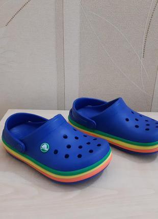 Кроксы crocs crocband rainbow оригинал размер 31-32