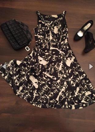 Стильное черно белое платье!