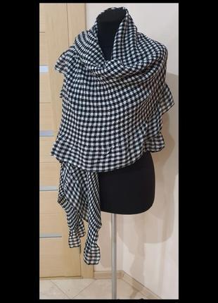 Zara, шарф, клетка
