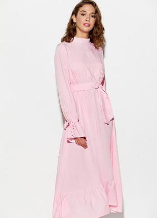 Платье миди с рюшами в горошек гольф karree длинное