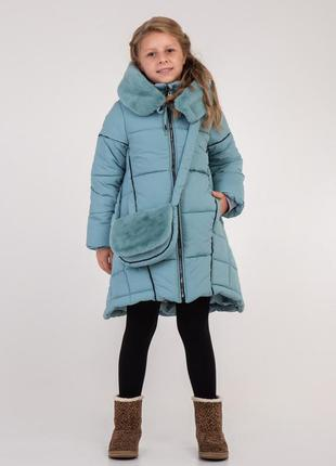 Зимнее пальто с сумкой