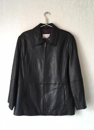 Фирменная кожаная куртка liz claiborne большого размера