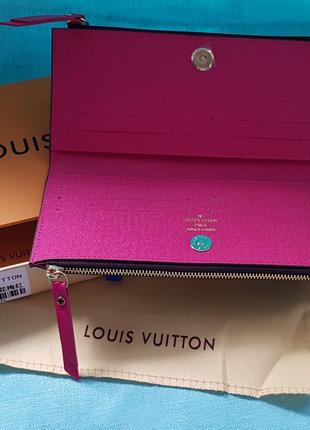 Кошелек новый Louis Vuitton adele коричневый с розовым в коробке