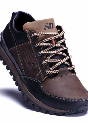 Мужские кожаные кроссовки New Balance Clasic Brown 40-45 р-ры