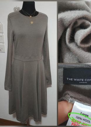 Фирменное теплое шерстяное платье миди, 100% шерсть мериноса, ...