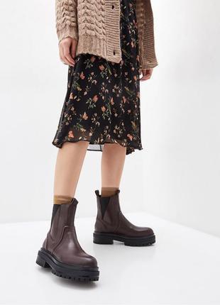Ботинки Topshop, натуральная кожа