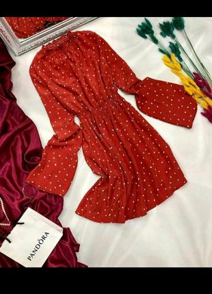 Платье в сердечка