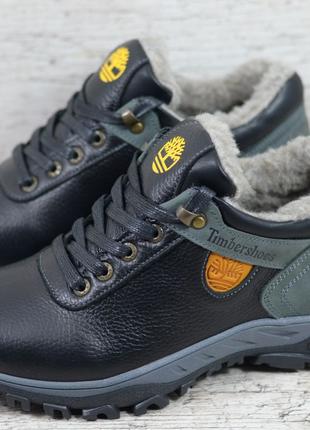 Мужские кожаные зимние ботинки/кроссовки Timberland