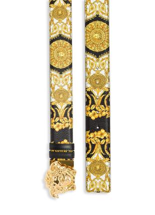 Ремень пояс золотой черный медуза Горгона Версаче Versace