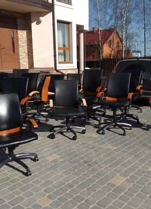 Кресло кожаное для офиса SITAG, шкіряне офісне крісло, стул в каб