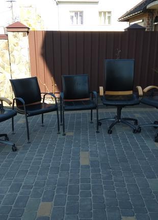 Кресло кожаное для офиса, шкіряне офісне крісло, конференційні па