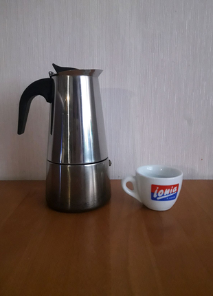 Гейзерная кофеварка  из нержавеющей стали