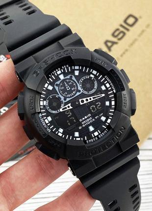 Casio G-Shock GA-100 All Black мужские спортивные