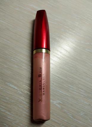 Блеск для губ пастельно-розовый перламутр victoria shu 405