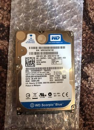 """Western Digital 250GB HDD WD2500BEVT Жесткий диск 2.5"""""""