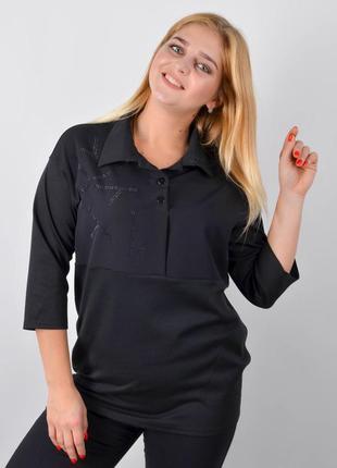 Размеры 50-60! кофта, блуза, рубашка черный, большие размеры!