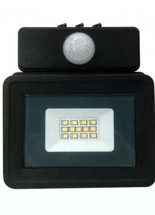 Прожектор LED 10W Slim Стандарт с датчиком