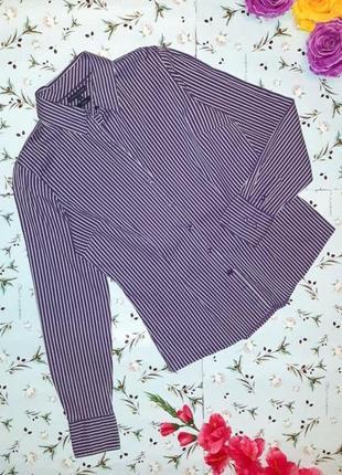 🎁1+1=3 приталенная фиолетовая рубашка блуза tommy hilfiger в п...