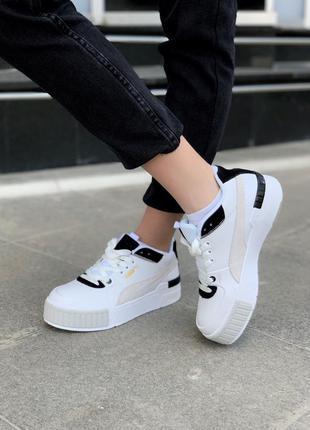 Кроссовки puma cali sport mix white black кросівки