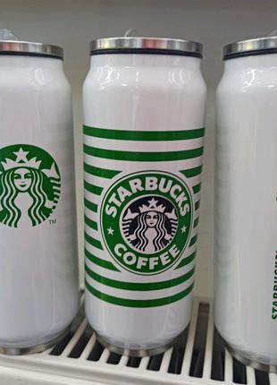 Термобутылка термобанка Starbucks Elite 400 мл с трубочкой