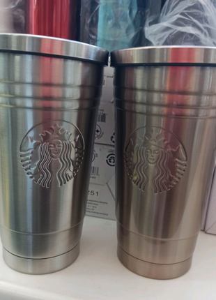 Термостакан Starbucks Stainless Steel Cup с трубочкой 500мл