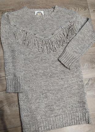 Вязанная туника y.d свитер