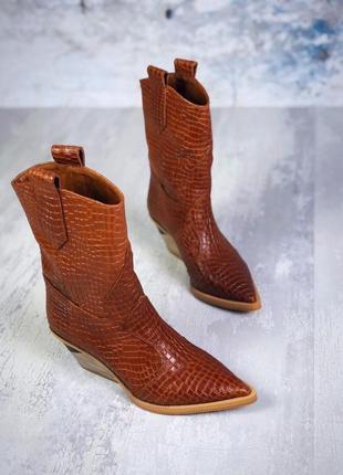 Эксклюзив! натуральная кожа. люксовые осенние кожаные ботинки ...