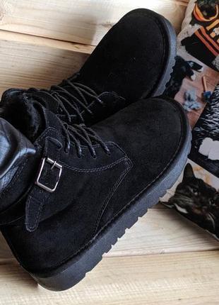 Натуральный замш женские ботинки угги сапоги