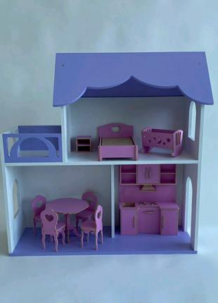 Кукольный дом Бирюза Без мебели Классный подарок