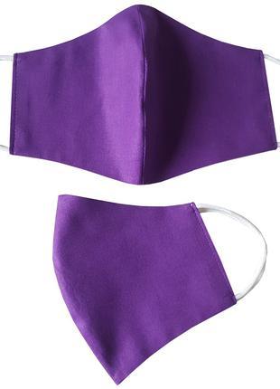 Маска для лица защитная Фиолетовая